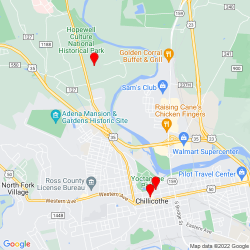 Map of Chillicothe, OH