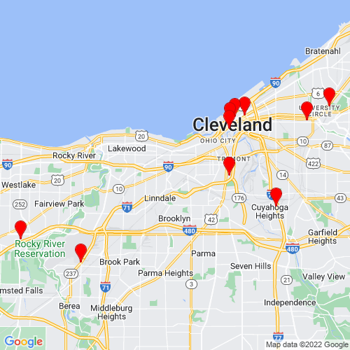 Map of Cleveland, OH