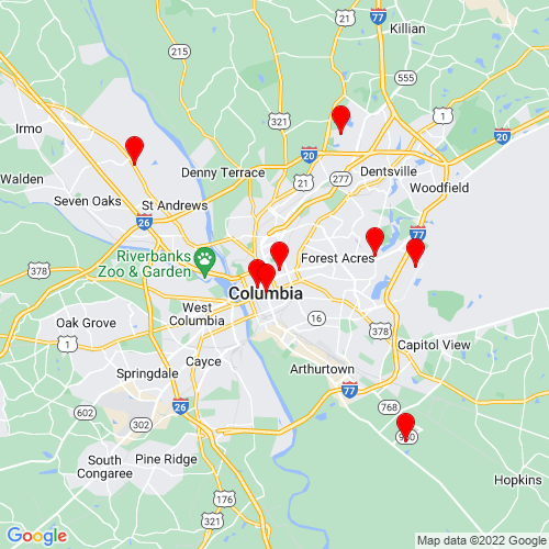 Map of Columbia, SC