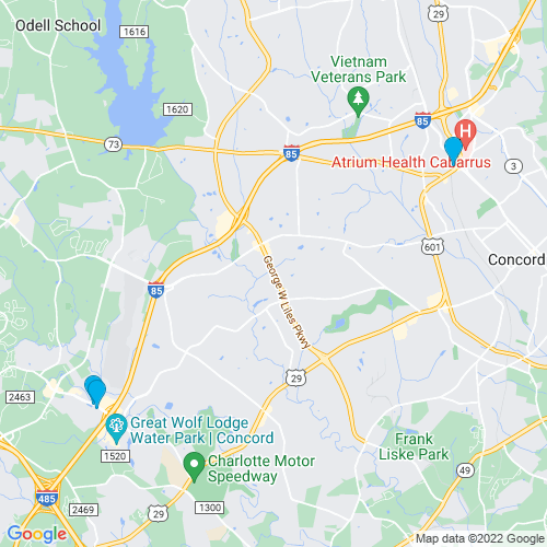 Map of Concord, NC