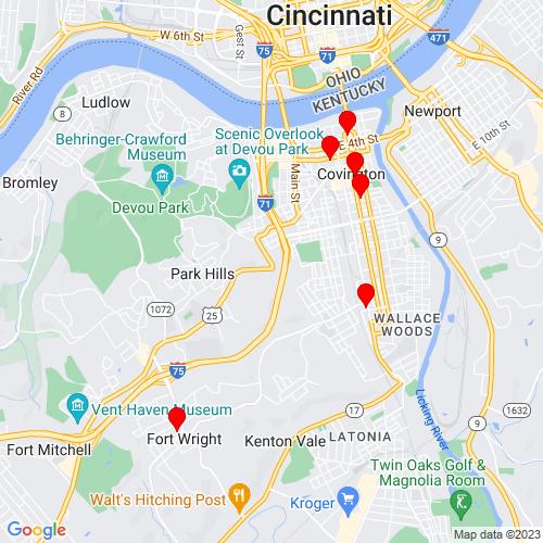 Map of Covington, KY