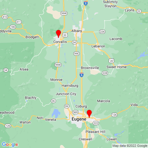 Map of Creswell, OR