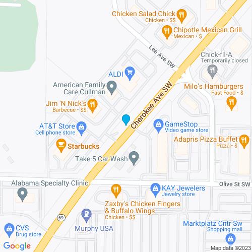 Map of Cullman, AL