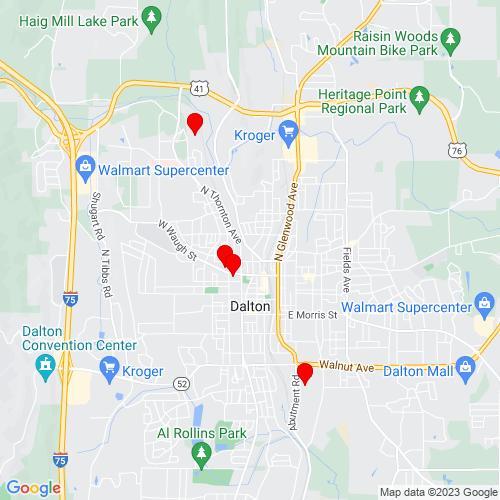 Map of Dalton, GA