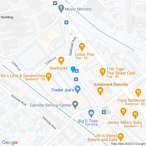 Map of Danville, CA
