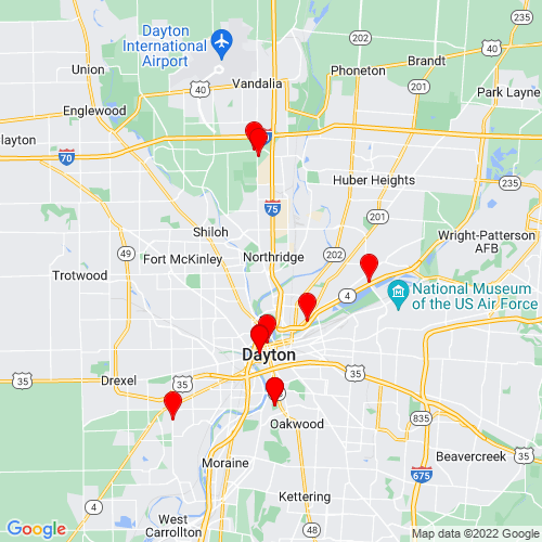 Map of Dayton, OH