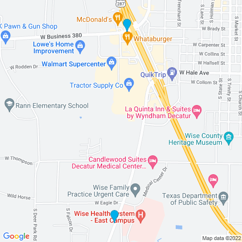 Map of Decatur, TX