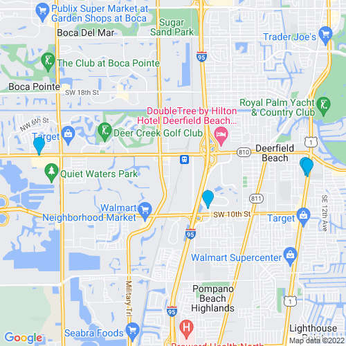 Map of Deerfield Beach, FL