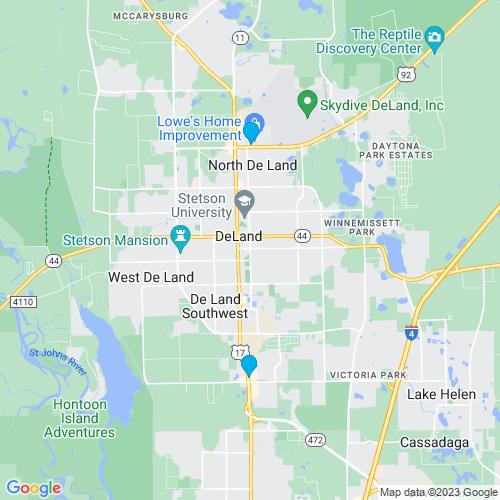 Map of Deland, FL