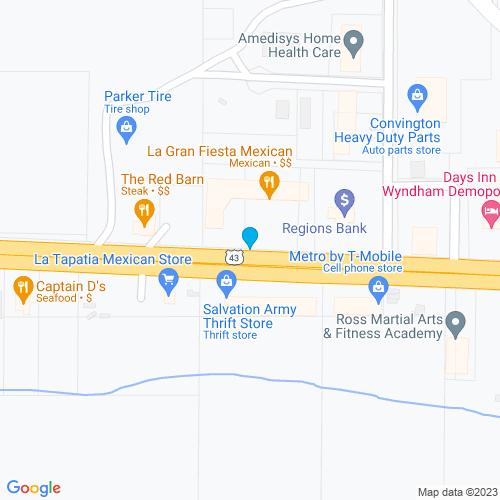 Map of Demopolis, AL