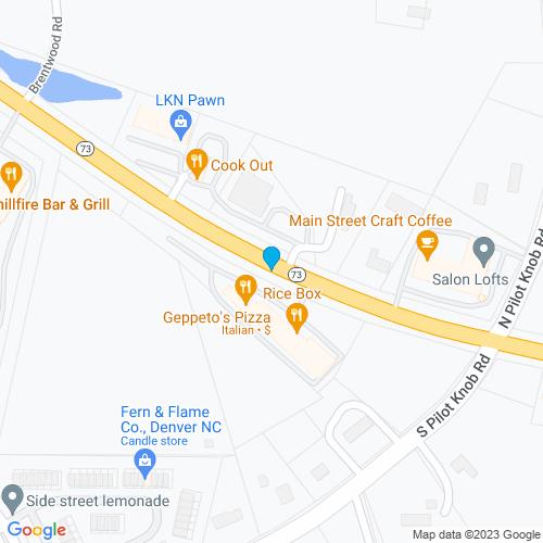 Map of Denver, NC
