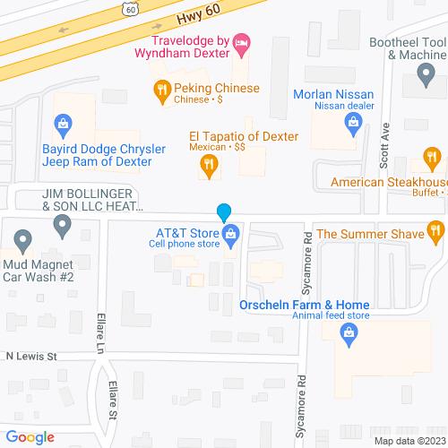 Map of Dexter, MO