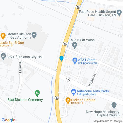 Map of Dickson, TN