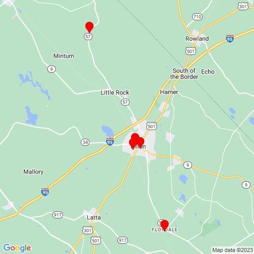 Map of Dillon, SC
