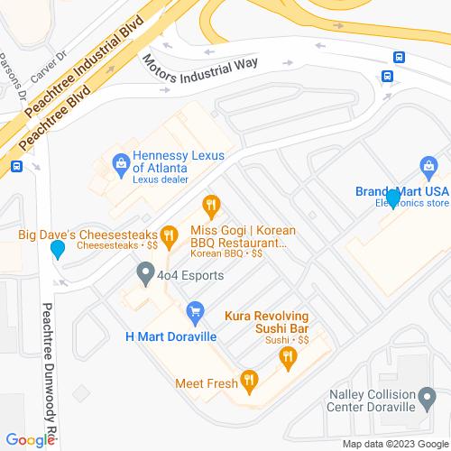 Map of Doraville, GA