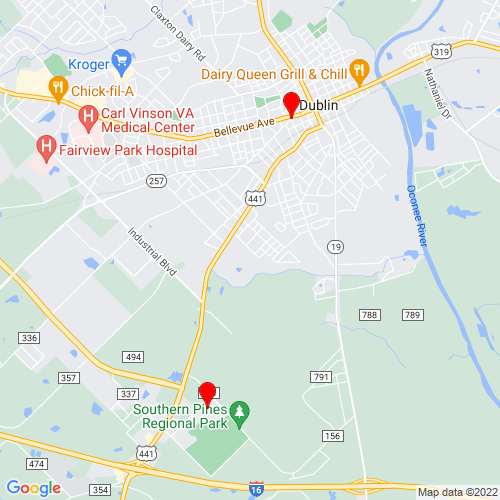 Map of Dublin, GA