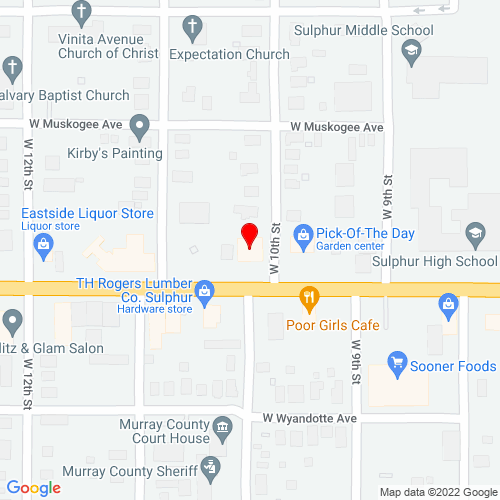Map of Duncan, OK