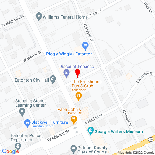 Map of Eatonton, GA