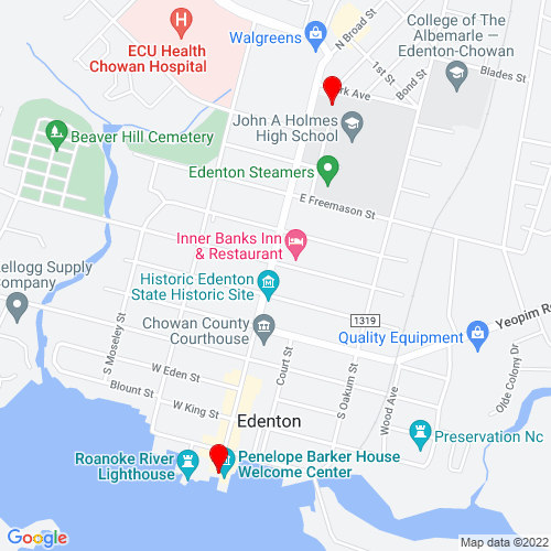Map of Edenton, NC