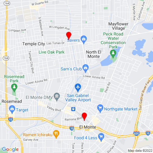 Map of El Monte, CA