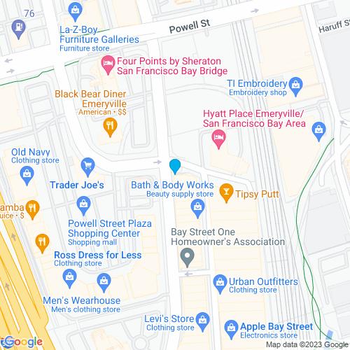 Map of Emeryville, CA
