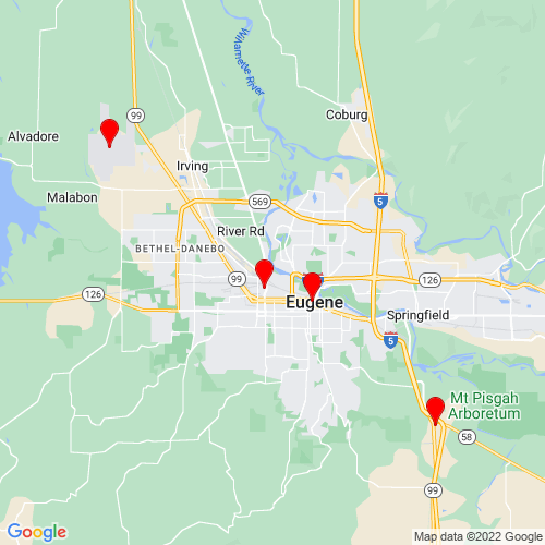 Map of Eugene, OR