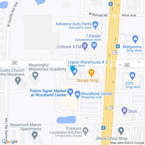 Map of Eustis, FL