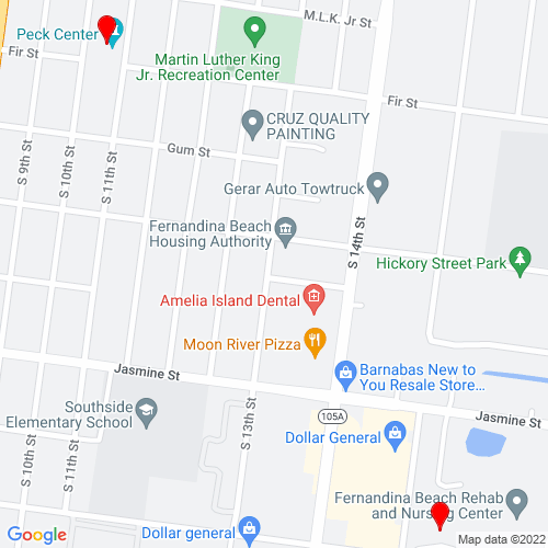 Map of Fernandina Beach, FL
