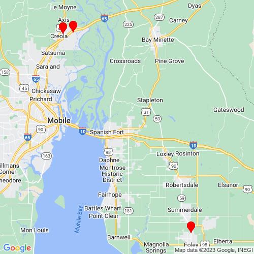 Map of Foley, AL