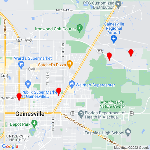 Map of Gainesville, FL