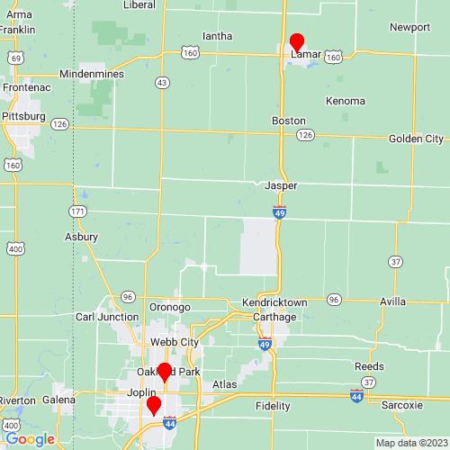 Map of Galena, KS