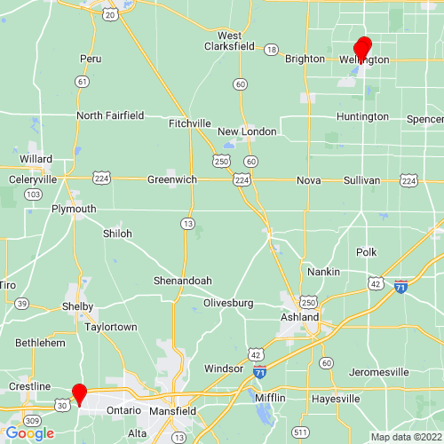 Map of Galion, OH