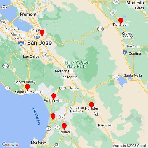 Map of Gilroy, CA
