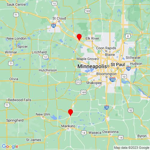 Map of Glencoe, MN