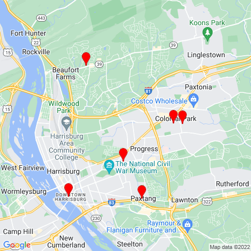 Map of Harrisburg, PA