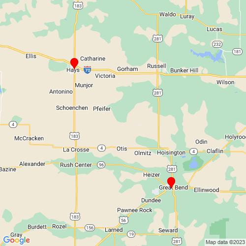 Map of Hays, KS