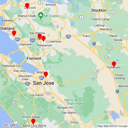 Map of Hayward, CA