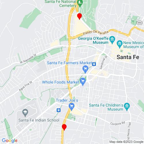 Map of Hernandez, NM
