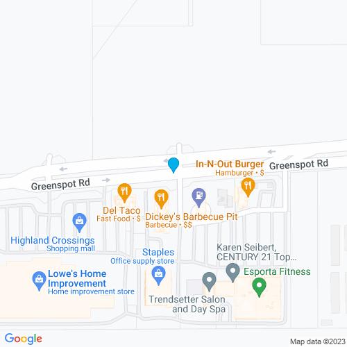 Map of Highland, CA