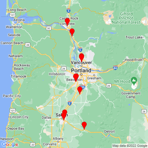 Map of Hillsboro, OR