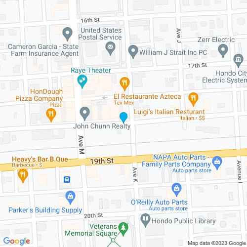 Map of Hondo, TX