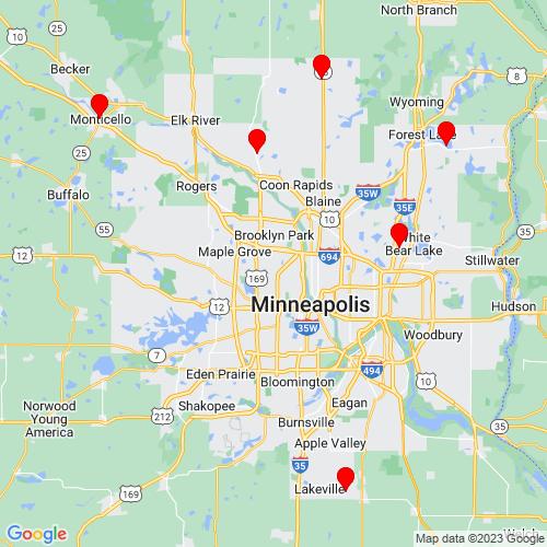 Map of Hugo, MN