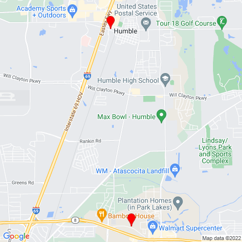 Map of Humble, TX