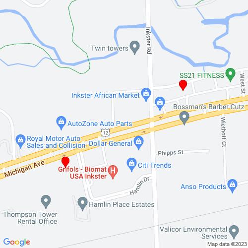 Map of Inkster, MI
