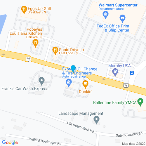 Map of Irmo, SC