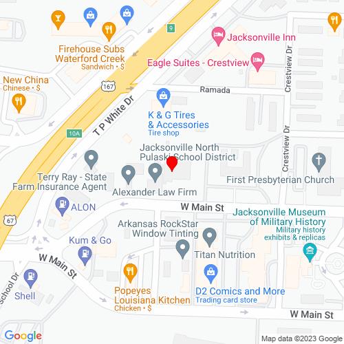 Map of Jacksonville, AR