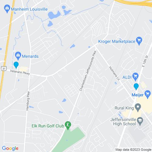 Map of Jeffersonville, IN