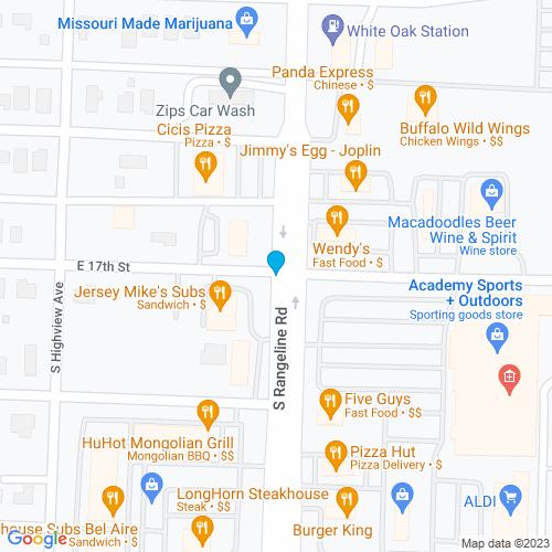 Map of Joplin, MO