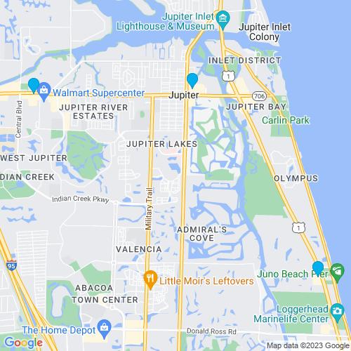 Map of Jupiter, FL