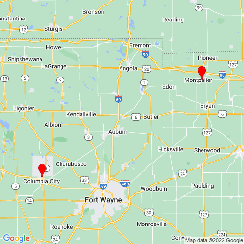 Map of Kendallville, IN